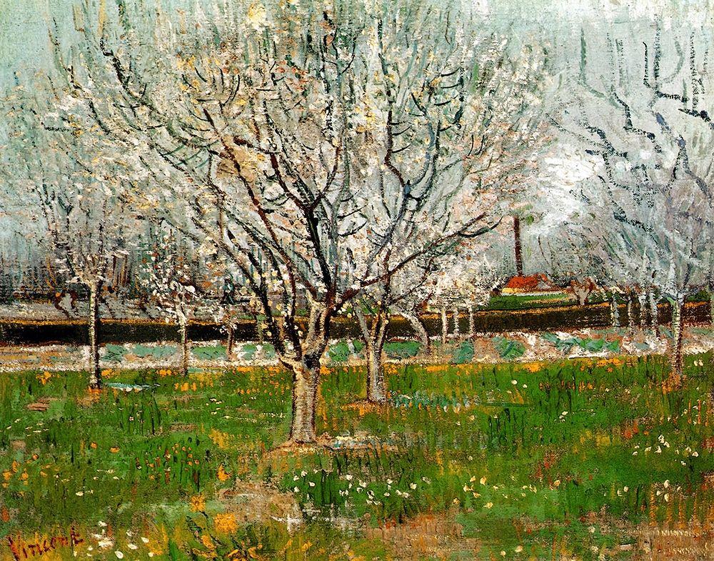 konfigurieren des Kunstdrucks in Wunschgröße Plum Trees In Blossom von Van Gogh, Vincent