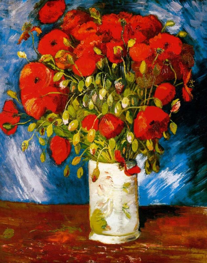 konfigurieren des Kunstdrucks in Wunschgröße Poppies 1886 von Van Gogh, Vincent