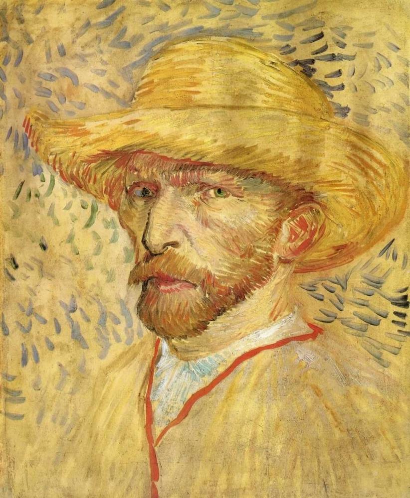 konfigurieren des Kunstdrucks in Wunschgröße Self Portrait Straw Hat von Van Gogh, Vincent