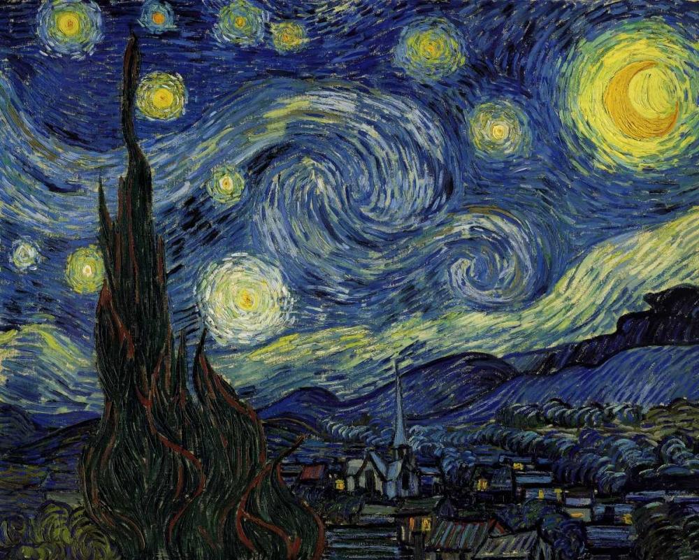 Starry Night von Van Gogh, Vincent <br> max. 150 x 119cm <br> Preis: ab 10€