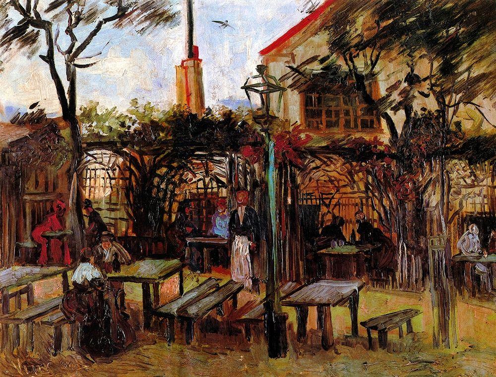 konfigurieren des Kunstdrucks in Wunschgröße Terrace Of La Guinguette Cafe von Van Gogh, Vincent