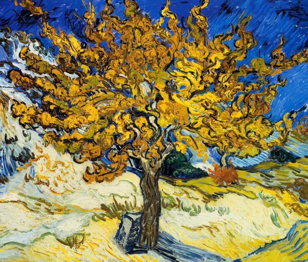 konfigurieren des Kunstdrucks in Wunschgröße The Mulberry Tree 1889 von Van Gogh, Vincent