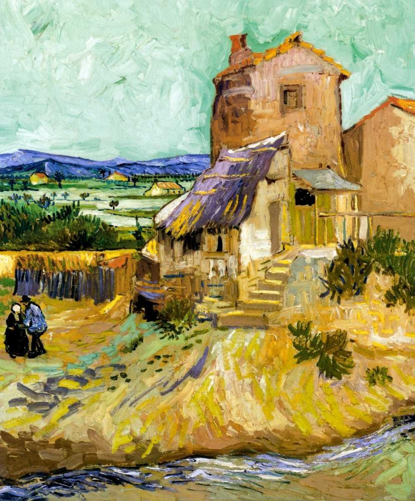 konfigurieren des Kunstdrucks in Wunschgröße The Old Mill 1888 von Van Gogh, Vincent