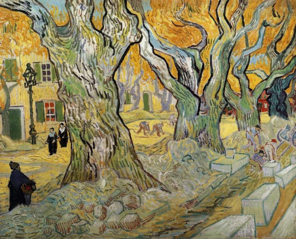konfigurieren des Kunstdrucks in Wunschgröße The Road Menders von Van Gogh, Vincent