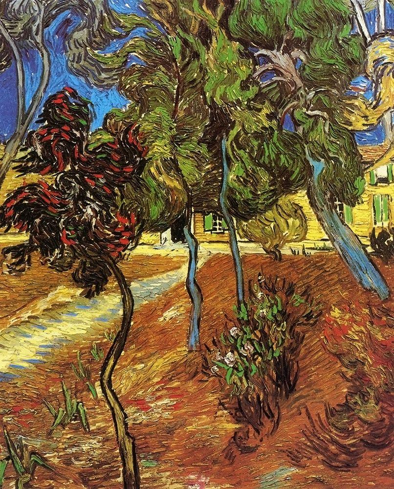 konfigurieren des Kunstdrucks in Wunschgröße Tree In Garden St Paul Hospital von Van Gogh, Vincent