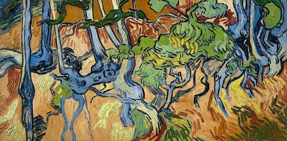 konfigurieren des Kunstdrucks in Wunschgröße Tree Roots And Trunks, 1890 von Van Gogh, Vincent