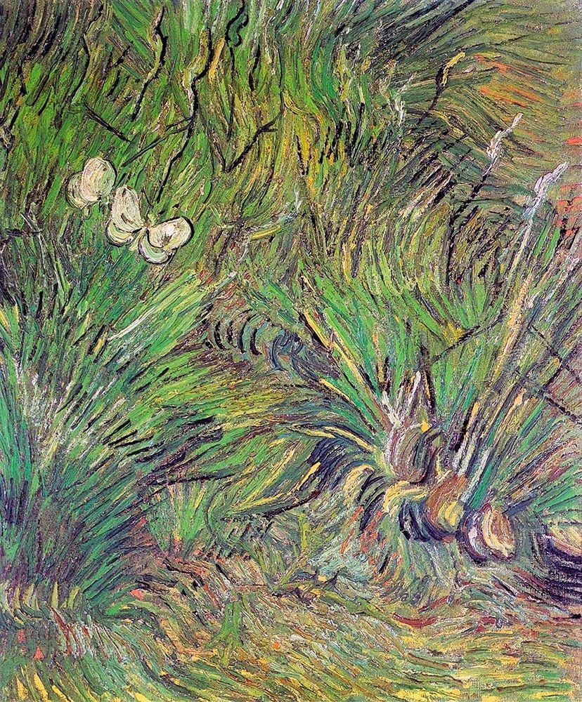 konfigurieren des Kunstdrucks in Wunschgröße Two White Butterflies 1889 von Van Gogh, Vincent