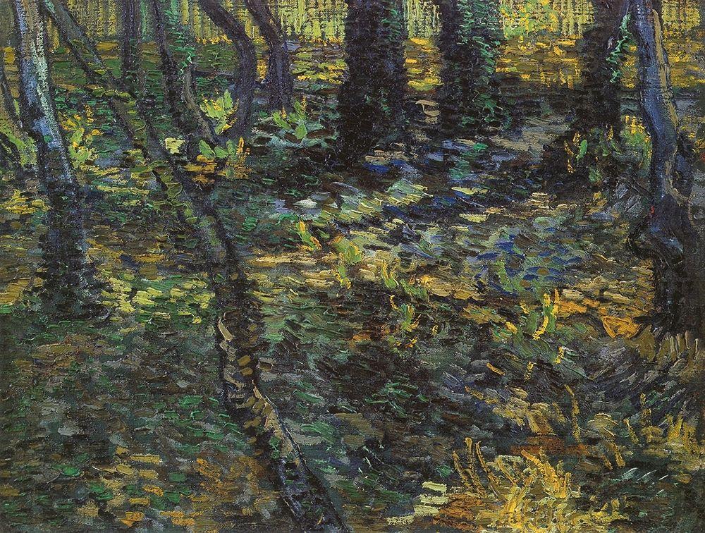 konfigurieren des Kunstdrucks in Wunschgröße Undergrowth von Van Gogh, Vincent