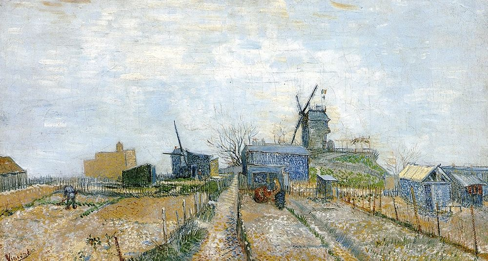 konfigurieren des Kunstdrucks in Wunschgröße Vegetable Gardens Moulin De Blute von Van Gogh, Vincent