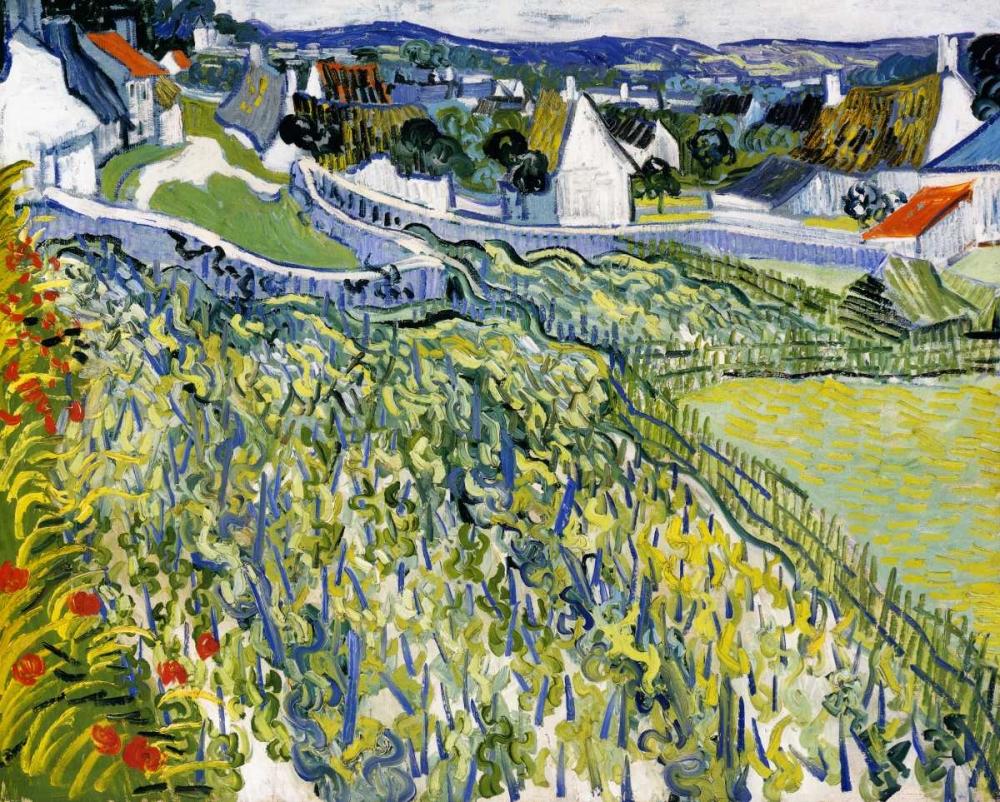 konfigurieren des Kunstdrucks in Wunschgröße Vineyards Auvers von Van Gogh, Vincent