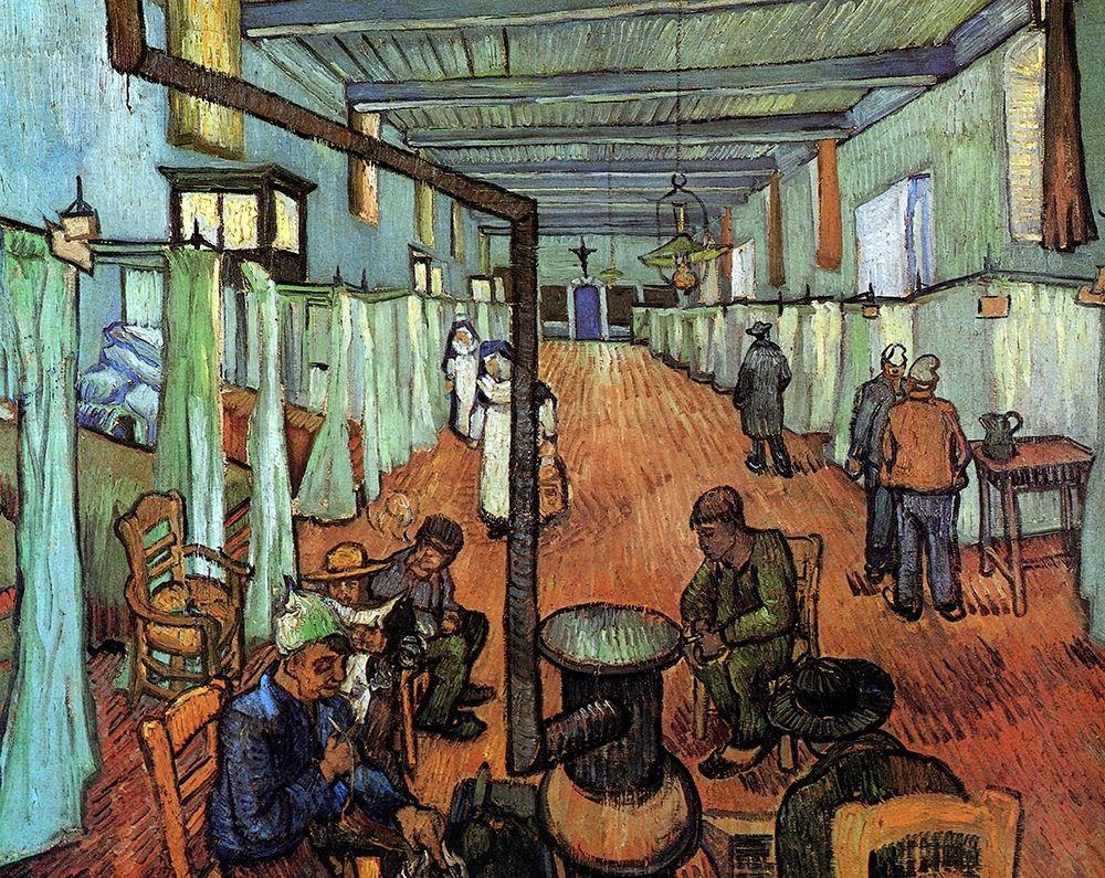 konfigurieren des Kunstdrucks in Wunschgröße Ward Hospital Arles von Van Gogh, Vincent
