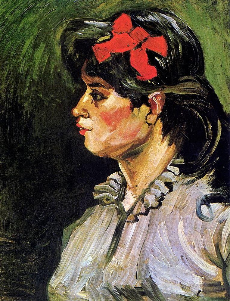konfigurieren des Kunstdrucks in Wunschgröße Young Woman With Ribbon von Van Gogh, Vincent