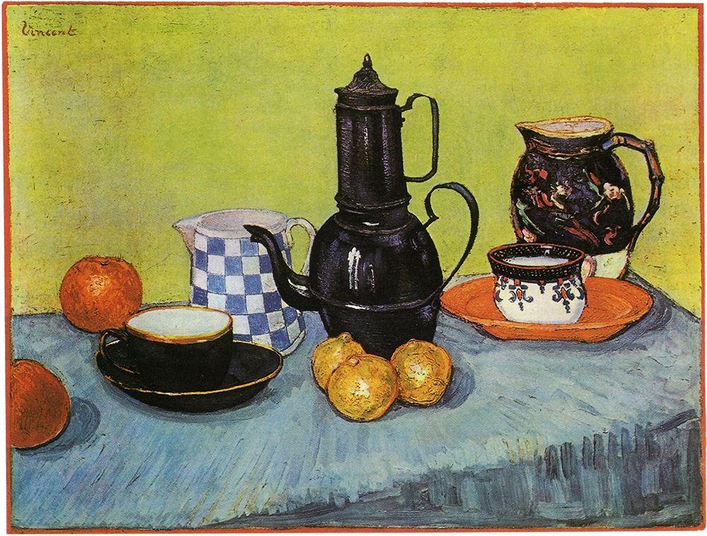 konfigurieren des Kunstdrucks in Wunschgröße Blue Enamel Coffeepot von Van Gogh, Vincent