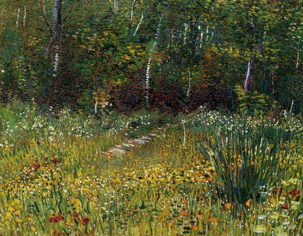 konfigurieren des Kunstdrucks in Wunschgröße A Park In Spring 1887 von Van Gogh, Vincent