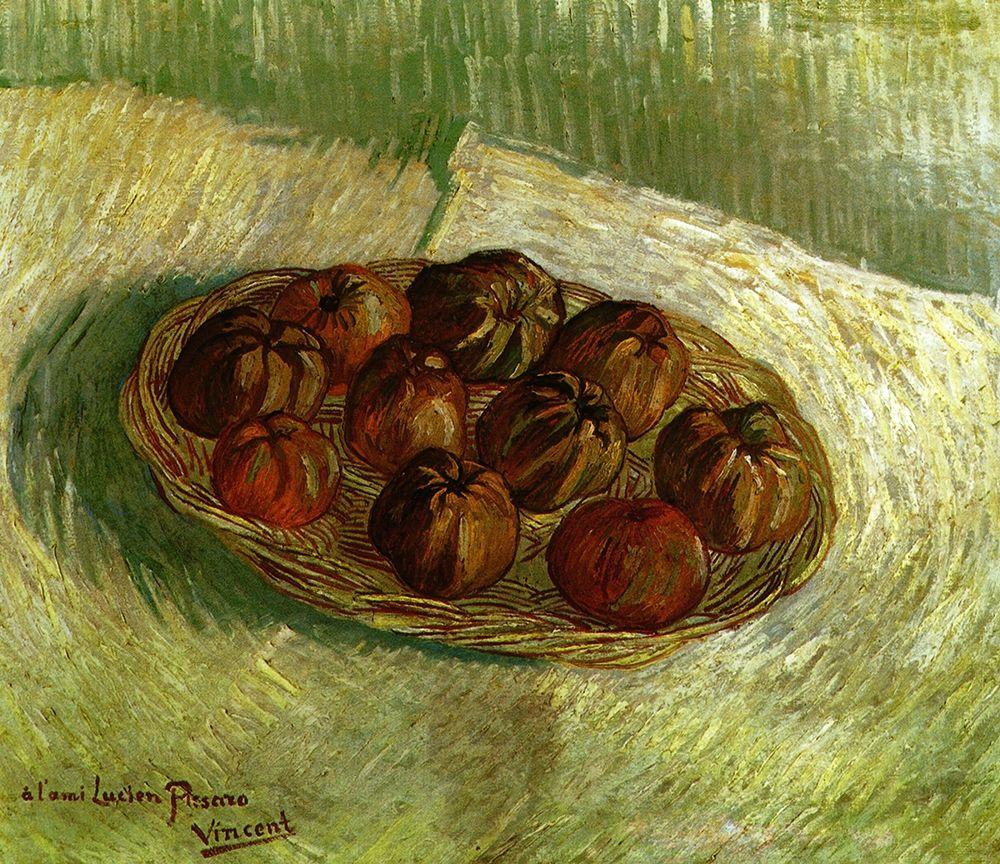 konfigurieren des Kunstdrucks in Wunschgröße Basket Apples von Van Gogh, Vincent