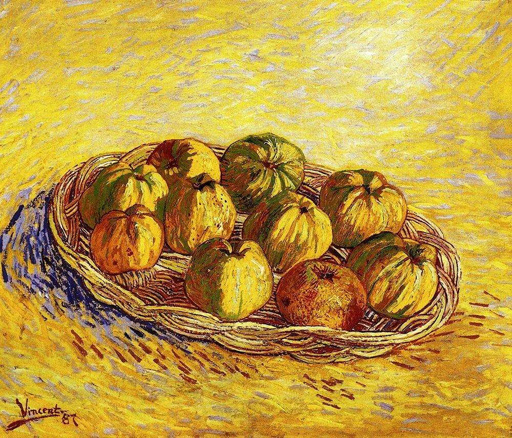 konfigurieren des Kunstdrucks in Wunschgröße Basket Apples 2 von Van Gogh, Vincent