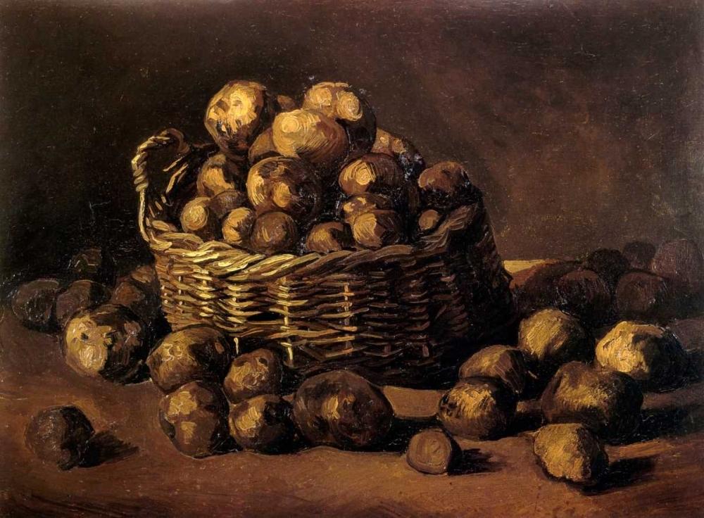 konfigurieren des Kunstdrucks in Wunschgröße Basket Of Potatoes von Van Gogh, Vincent