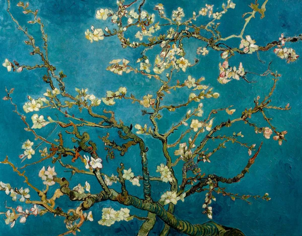 konfigurieren des Kunstdrucks in Wunschgröße Blossoming Almond Tree von Van Gogh, Vincent