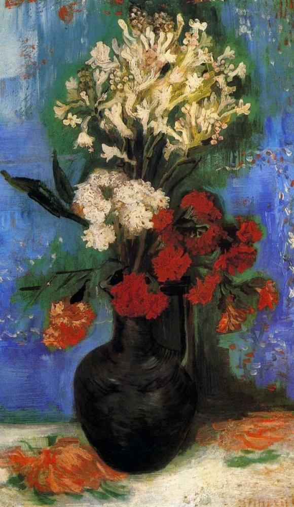 konfigurieren des Kunstdrucks in Wunschgröße Carnations And Other Flowers von Van Gogh, Vincent