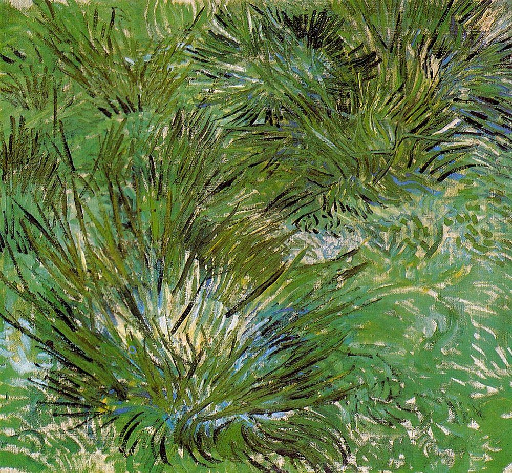 konfigurieren des Kunstdrucks in Wunschgröße Clumps Of Grass 1889 von Van Gogh, Vincent