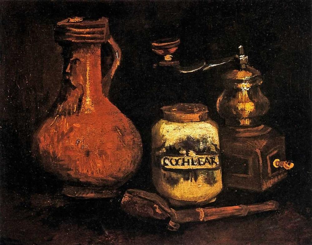 konfigurieren des Kunstdrucks in Wunschgröße Coffee Mill Pipe Cas Jug von Van Gogh, Vincent
