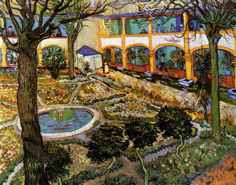 konfigurieren des Kunstdrucks in Wunschgröße Courtyard Hospital Arles von Van Gogh, Vincent