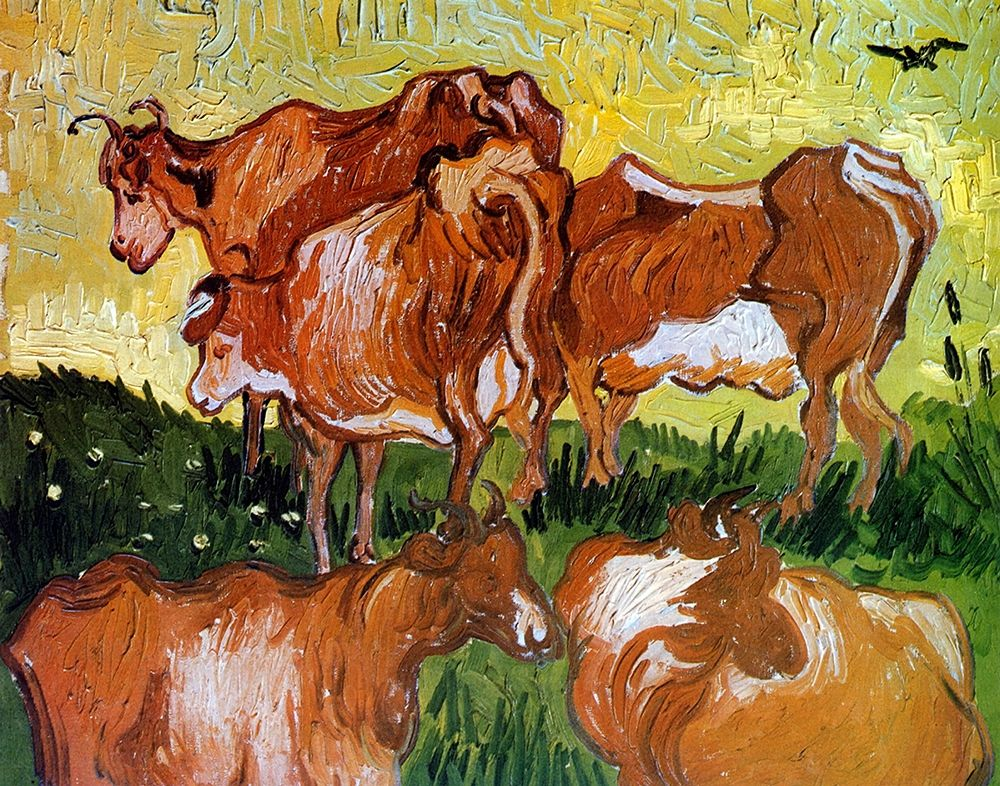 konfigurieren des Kunstdrucks in Wunschgröße Cows von Van Gogh, Vincent