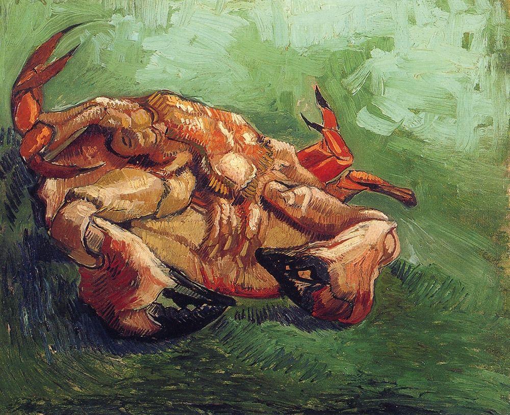 konfigurieren des Kunstdrucks in Wunschgröße Crab On His Back von Van Gogh, Vincent
