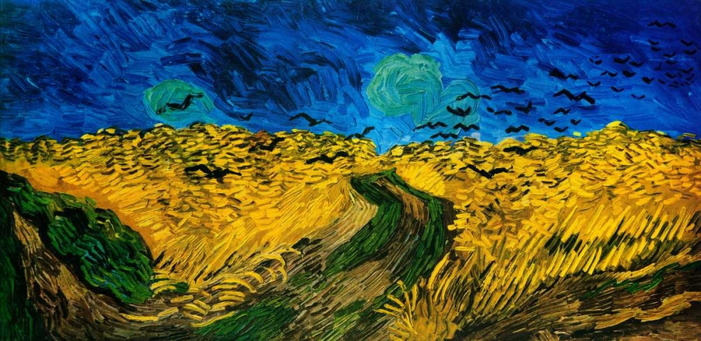 konfigurieren des Kunstdrucks in Wunschgröße Crows Over Wheat Field von Van Gogh, Vincent