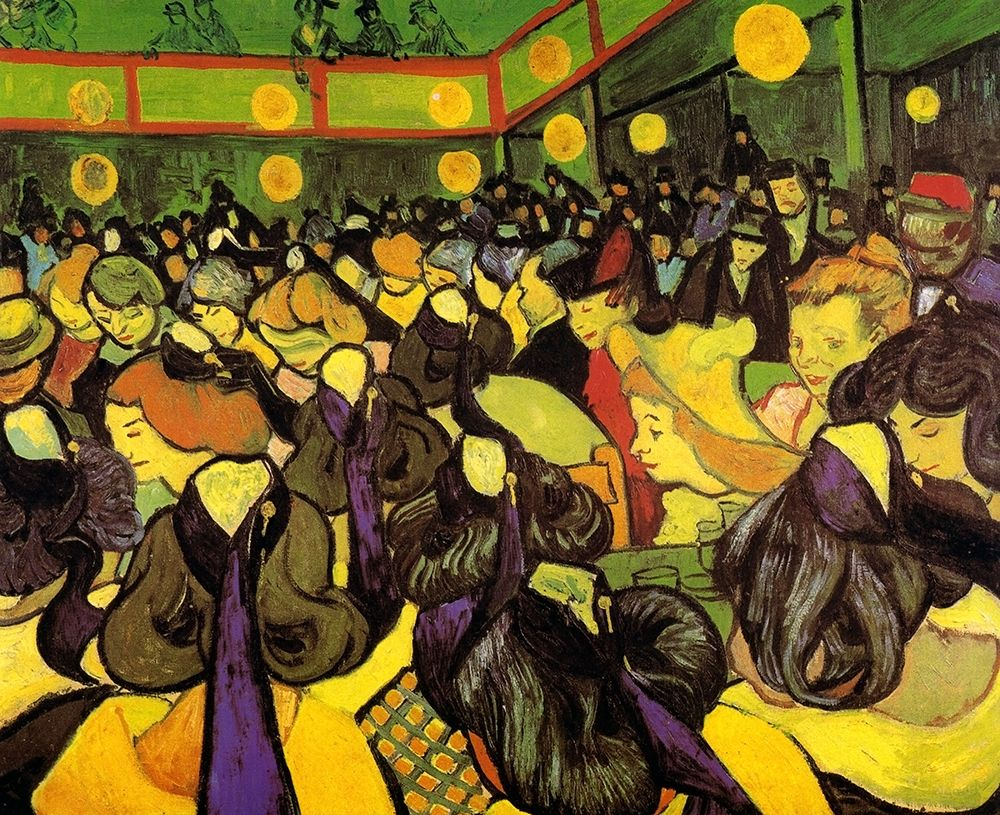 konfigurieren des Kunstdrucks in Wunschgröße Dance Hall In Arles von Van Gogh, Vincent