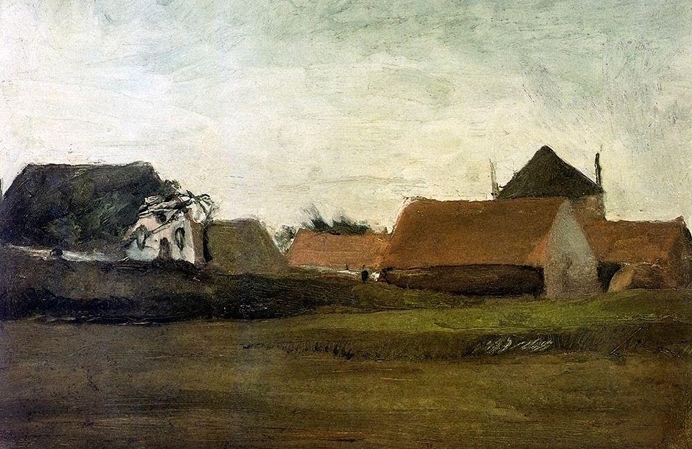 konfigurieren des Kunstdrucks in Wunschgröße Farm House Loosduinen Near The Hague von Van Gogh, Vincent
