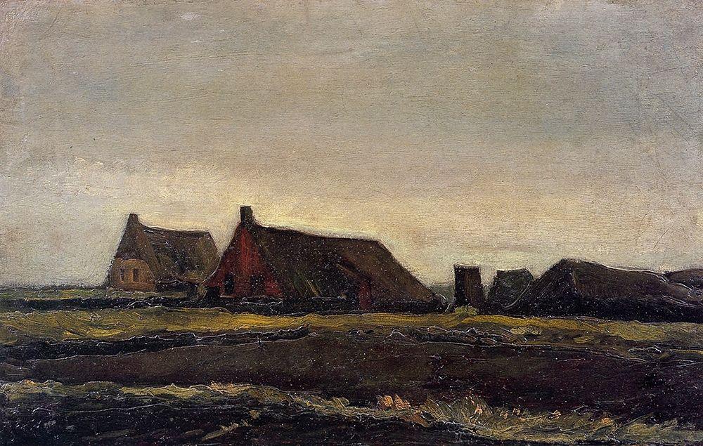 konfigurieren des Kunstdrucks in Wunschgröße Farmhouse Near Hoogeveen von Van Gogh, Vincent