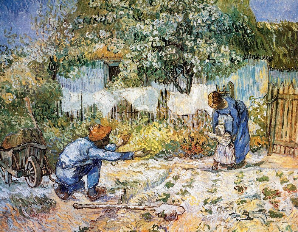 konfigurieren des Kunstdrucks in Wunschgröße First Steps von Van Gogh, Vincent