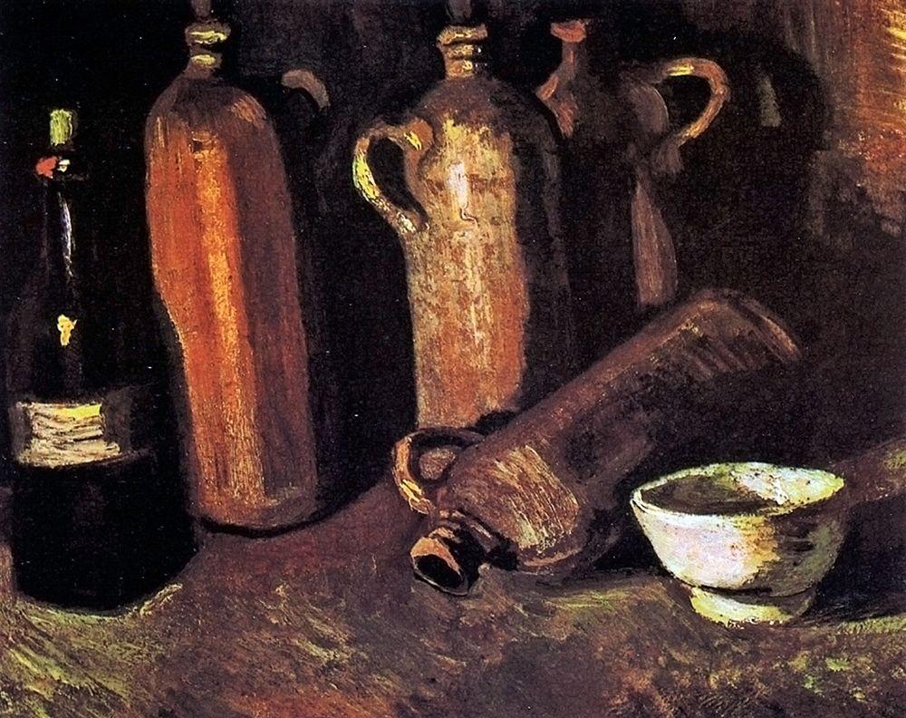 konfigurieren des Kunstdrucks in Wunschgröße Four Stone Bottles Flask von Van Gogh, Vincent