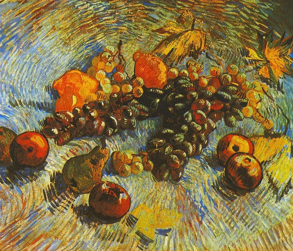konfigurieren des Kunstdrucks in Wunschgröße Grapes Apples Pear Lemons von Van Gogh, Vincent