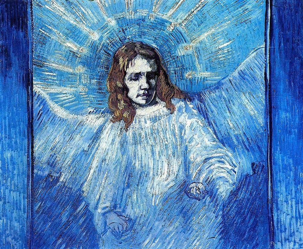 konfigurieren des Kunstdrucks in Wunschgröße Half Figure Of Angel von Van Gogh, Vincent