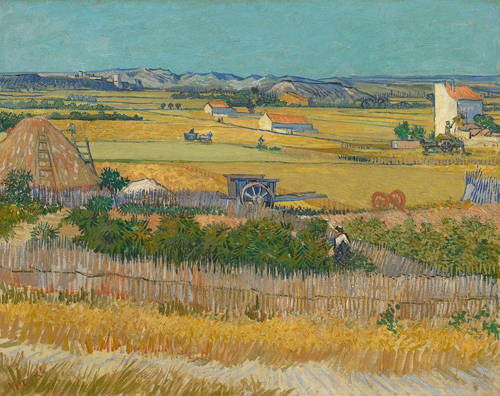 konfigurieren des Kunstdrucks in Wunschgröße Harvest At La Crau And Montmajour von Van Gogh, Vincent