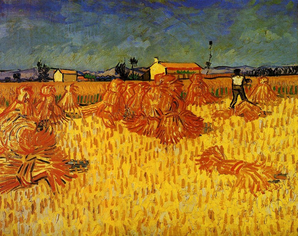 konfigurieren des Kunstdrucks in Wunschgröße Harvest In Provence von Van Gogh, Vincent