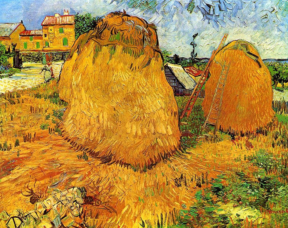 konfigurieren des Kunstdrucks in Wunschgröße Haystacks In Provence von Van Gogh, Vincent