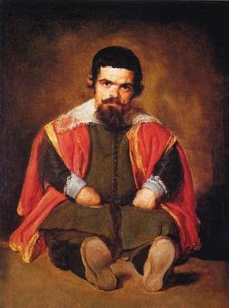 konfigurieren des Kunstdrucks in Wunschgröße A Dwarf Sitting On The Floor von Velazquez, Diego