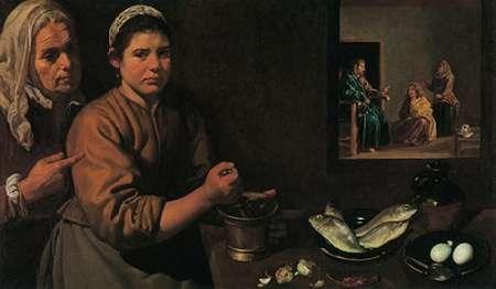 konfigurieren des Kunstdrucks in Wunschgröße Museumist In The House Of Martha And Mary von Velazquez, Diego