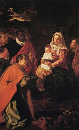 konfigurieren des Kunstdrucks in Wunschgröße The Adoration Of The Magi von Velazquez, Diego