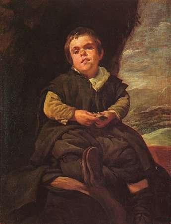 konfigurieren des Kunstdrucks in Wunschgröße The Dwarf Francisco Lezcano von Velazquez, Diego