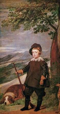 konfigurieren des Kunstdrucks in Wunschgröße The Infante Baltasar Carlos As A Hunter von Velazquez, Diego