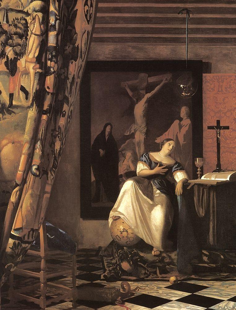 konfigurieren des Kunstdrucks in Wunschgröße Allegory Of Faith von Vermeer, Johannes