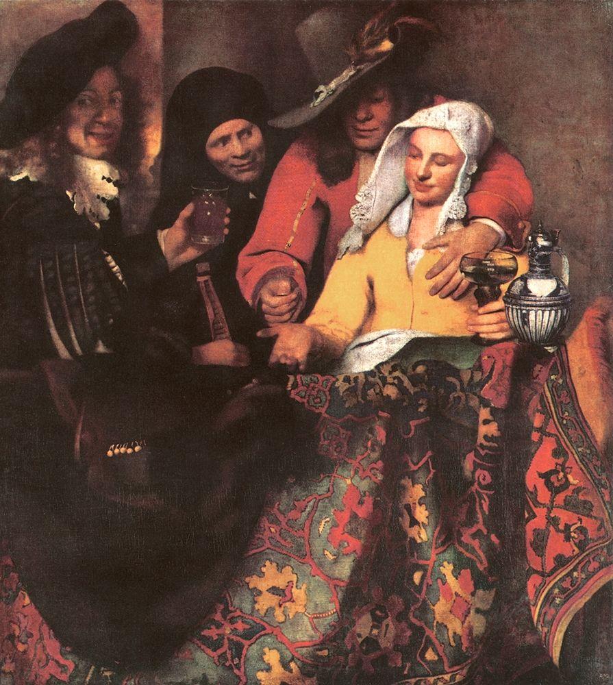 konfigurieren des Kunstdrucks in Wunschgröße At The Procureess von Vermeer, Johannes