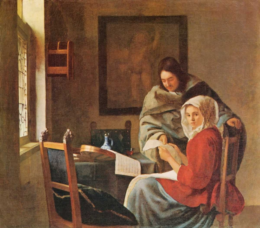 Gentleman And The Girl With Music von Vermeer, Johannes <br> max. 81 x 71cm <br> Preis: ab 10€