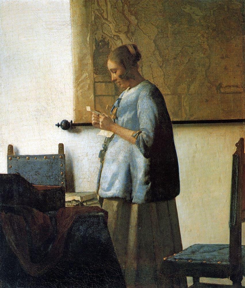 konfigurieren des Kunstdrucks in Wunschgröße Lady In Blue von Vermeer, Johannes