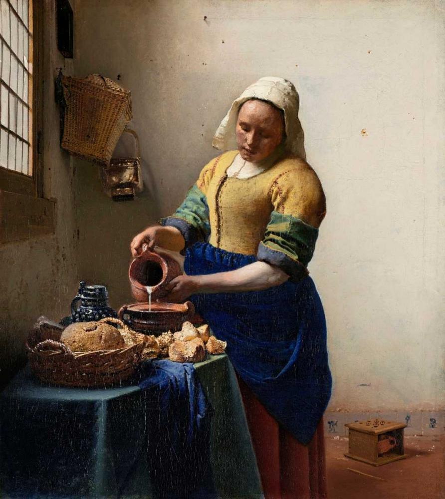 konfigurieren des Kunstdrucks in Wunschgröße Milkmaid von Vermeer, Johannes