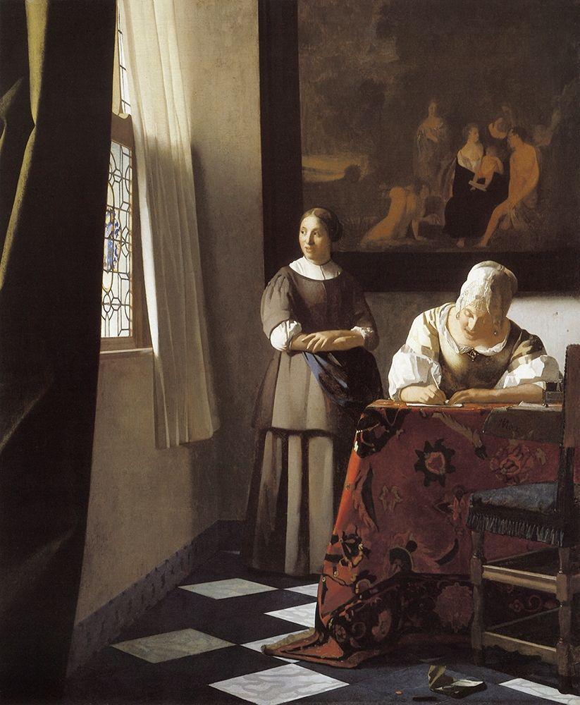 konfigurieren des Kunstdrucks in Wunschgröße The Letter von Vermeer, Johannes